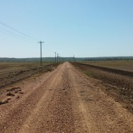 Straight and flat gravel roads in the Arkansas delta.